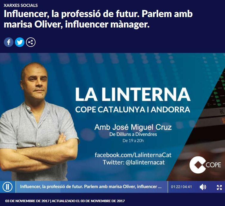 iNFLUENCER maNAGER CADENA COPE